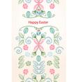 Happy easter seamless vertical banner vector