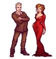 Elegant man and women vector