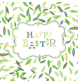 Happy easter cute greeting card vector
