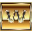 Ingot font letter w vector