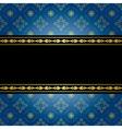 Blue and black vintage background vector