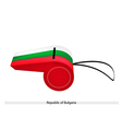 White green and red stripe on bulgaria whistle vector