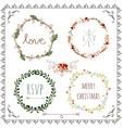Decorative laurel wreath designs vector