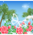 Tropical island summer vector