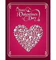 Happy valentines day vintage heart background vector