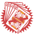 A hand of cards vector