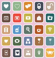 Love flat icons on pink background vector