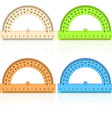 Protractor ruler vector