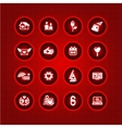 Set valentines day icons love romantic sign vector