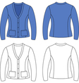 Template outline blank woman jacket vector