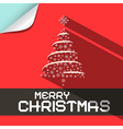 Merry christmas flat design paper background vector