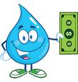 Water droplet cartoon character vector