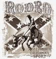 American original rodeo sport vector