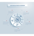 Paper infographics icon vector