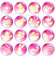 Pink spring icons vector