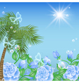 Tropical island summer vector