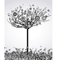 Abstract tree with round leaves vector