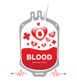 Blood donation medical vector