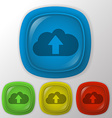 Icon with shadow cloud download vector