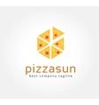 Abstract pizza logo icon concept logotype template vector