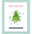 Watercolor christmas greeting card vector