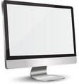 Lcd tv monitor vector