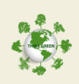 Green eco earth green earth with trees vector