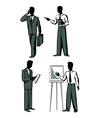 Four businessmen vector