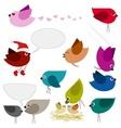 Colorful birds vector