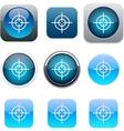Sight blue app icons vector