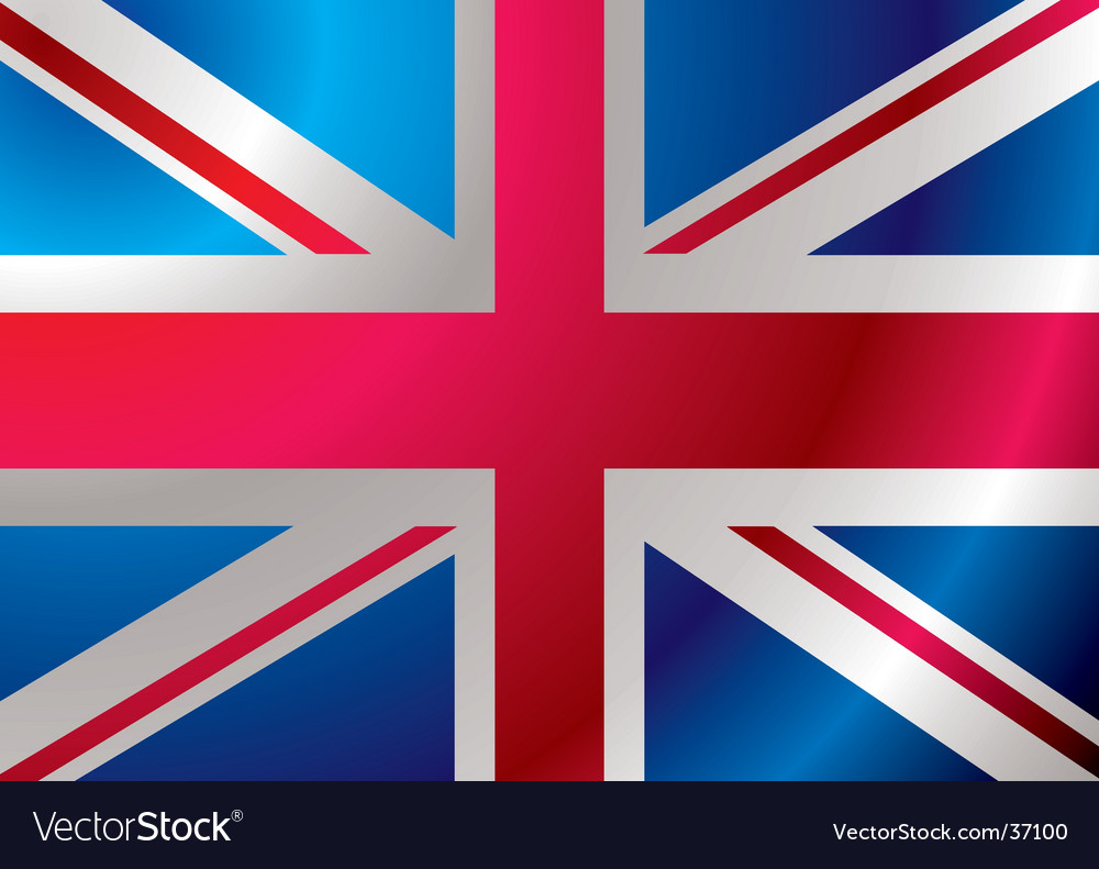 Britain flag ripple vector | Price: 1 Credit (USD $1)