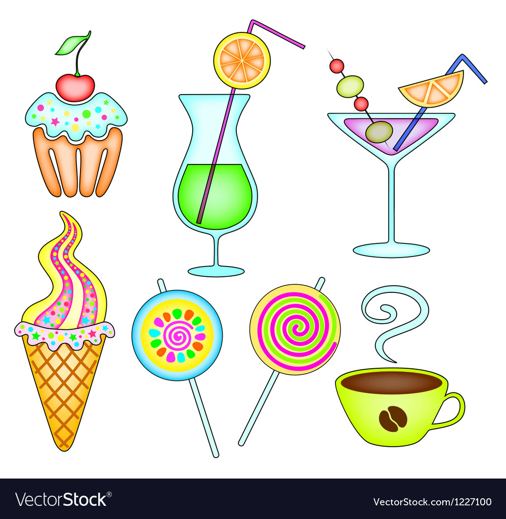Dessert and drink vector | Price: 1 Credit (USD $1)