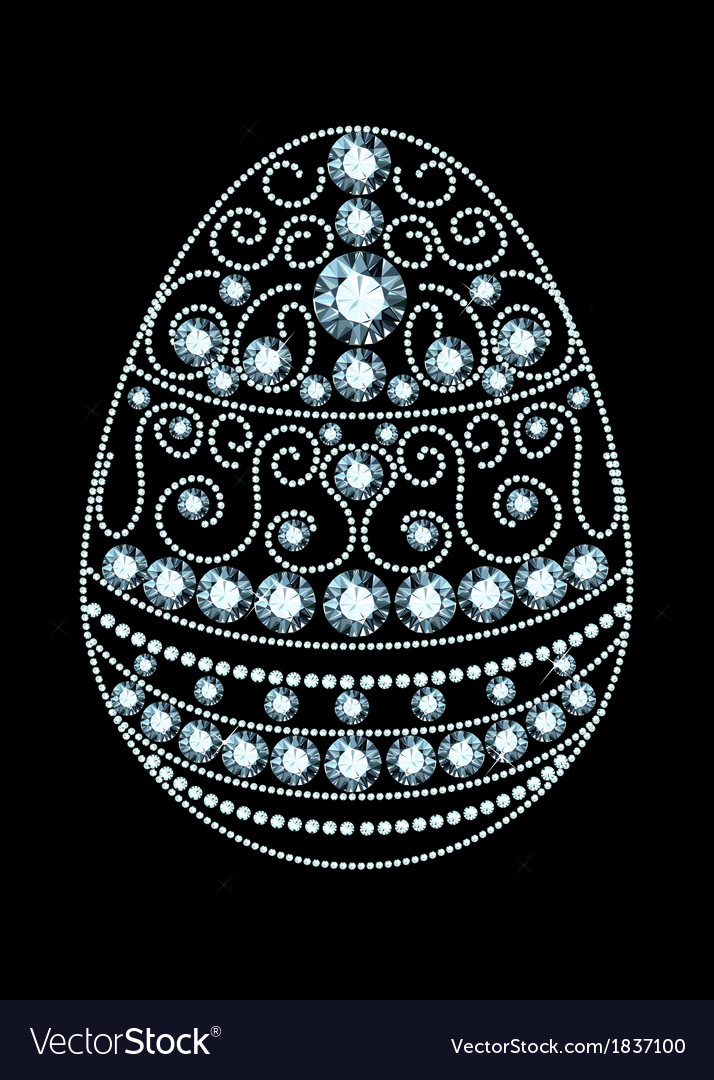 Diamond easter egg vector | Price: 1 Credit (USD $1)