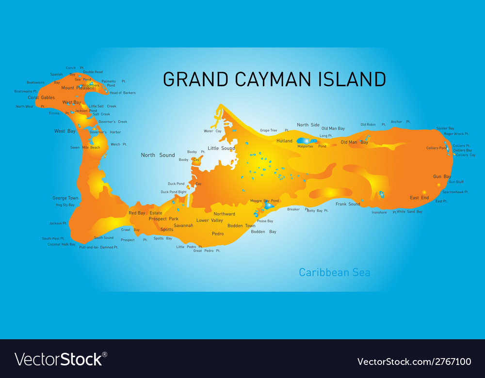 Grand cayman vector | Price: 1 Credit (USD $1)