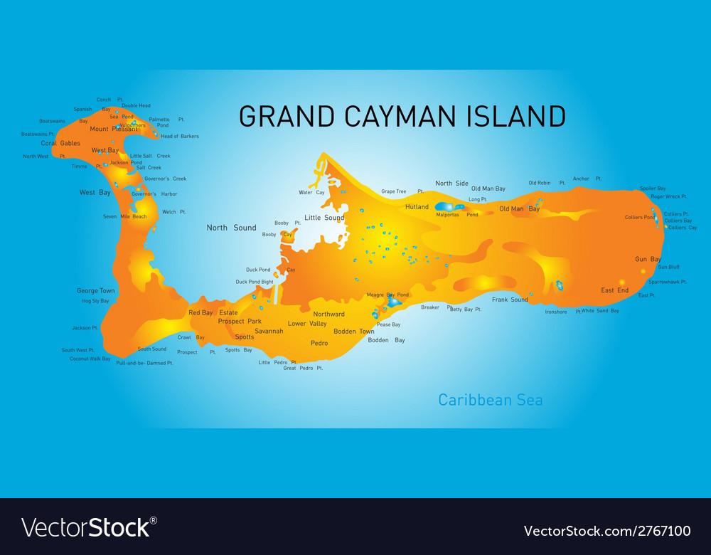 Grand cayman vector | Price: 1 Credit (USD $1)
