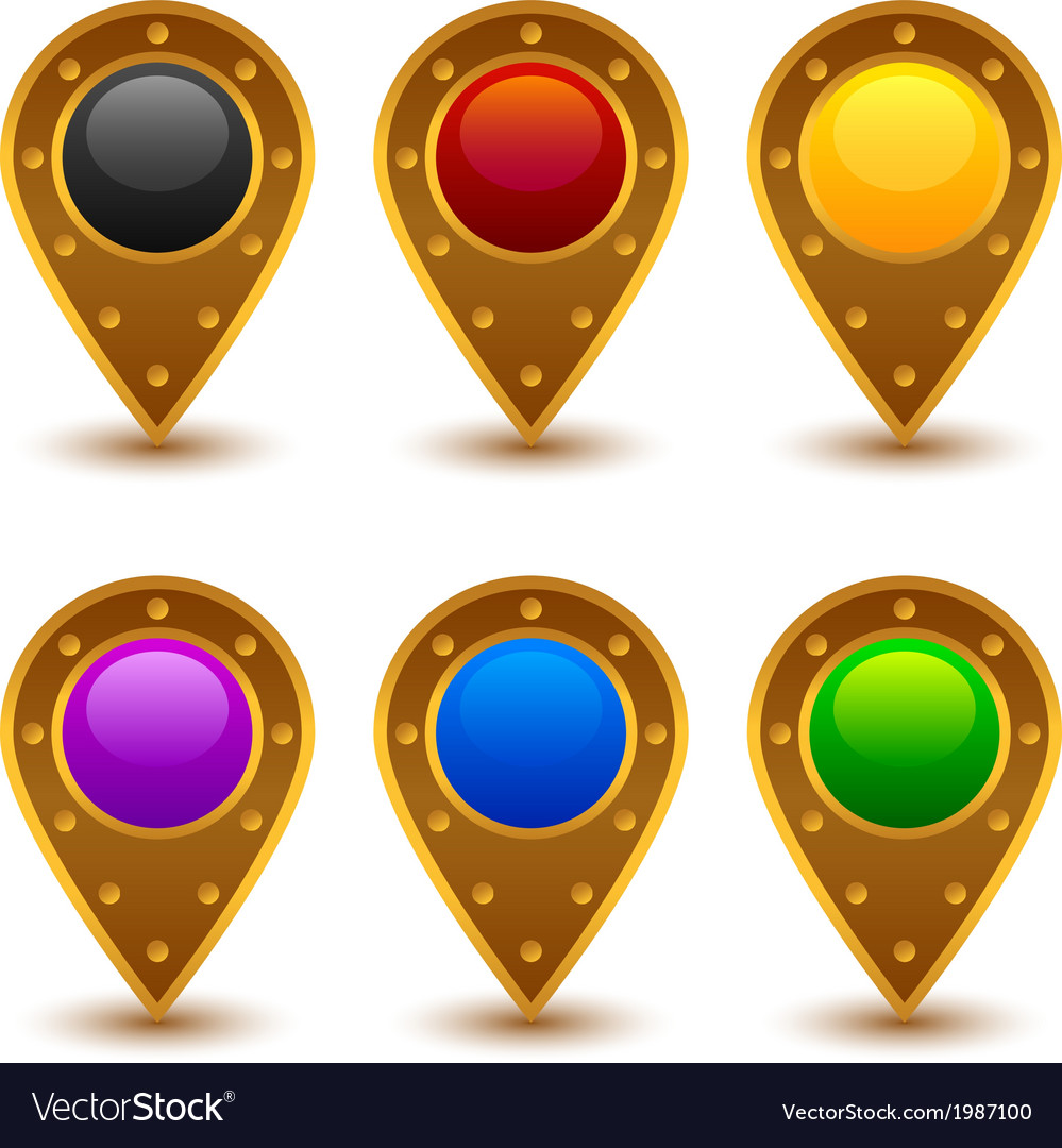Map markers 4 vector   Price: 1 Credit (USD $1)