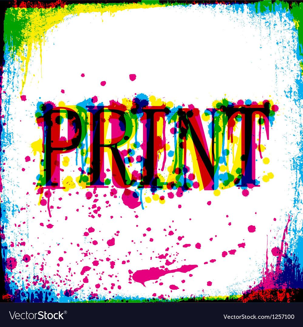 Print concept vector | Price: 1 Credit (USD $1)