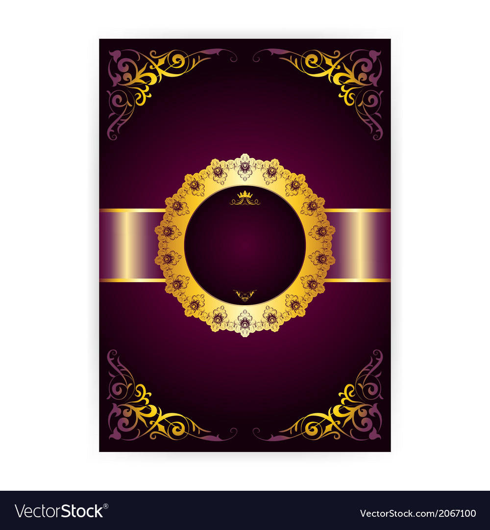 Royal invitation card in an old-style vector | Price: 1 Credit (USD $1)