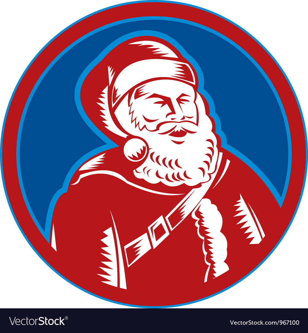 Santa claus father christmas retro vector | Price: 1 Credit (USD $1)