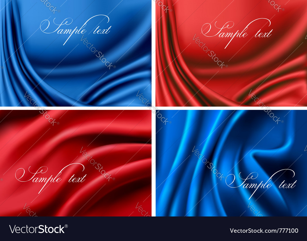 Set of elegant colorful silk backgrounds vector   Price: 3 Credit (USD $3)