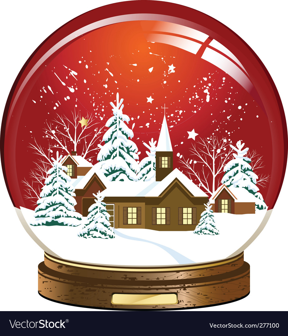 Snow globe vector   Price: 1 Credit (USD $1)