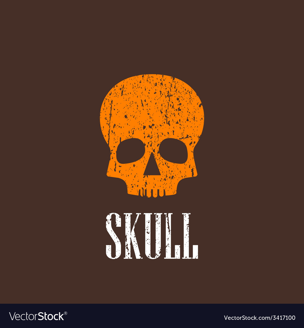 Vintage with a skull vector | Price: 1 Credit (USD $1)
