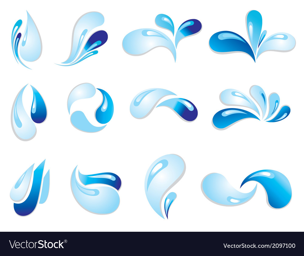 Water wave symbols vector | Price: 1 Credit (USD $1)
