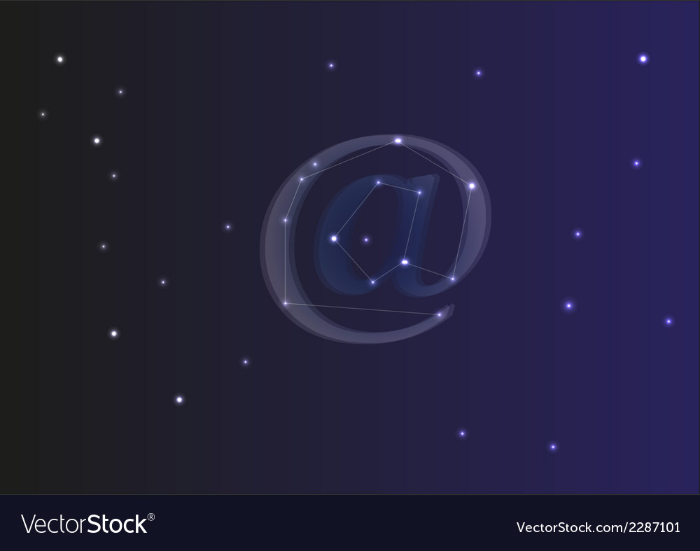 At sign from stars vector | Price: 1 Credit (USD $1)