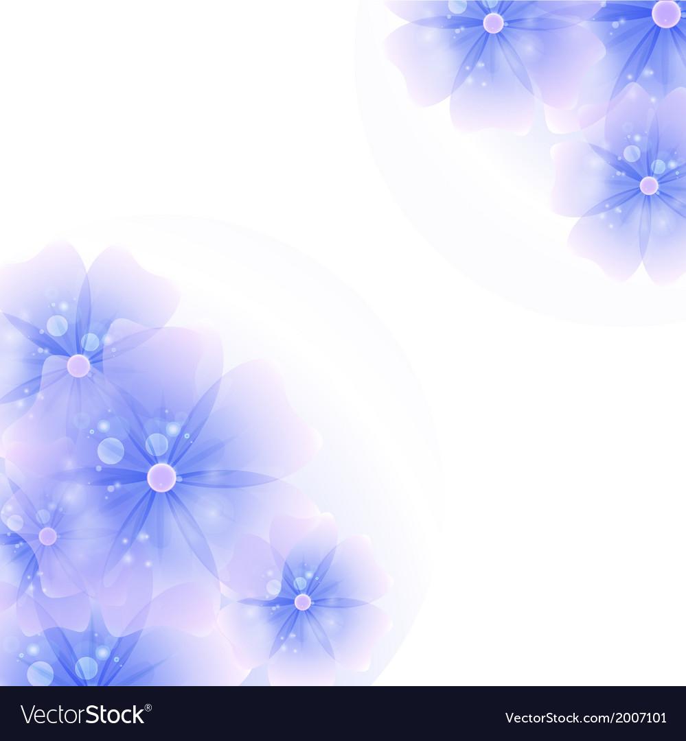 Floral corner background purple vector