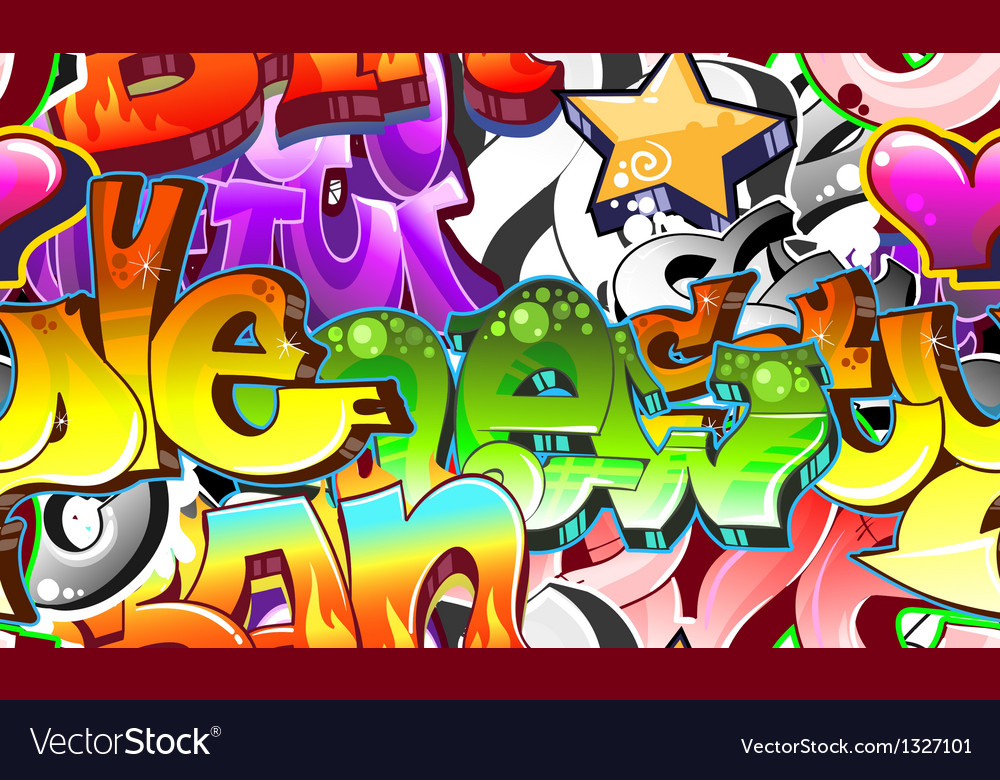 Graffiti urban art background vector | Price: 1 Credit (USD $1)