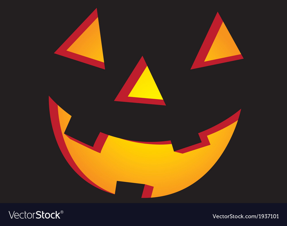 Halloween face in black vector | Price: 1 Credit (USD $1)