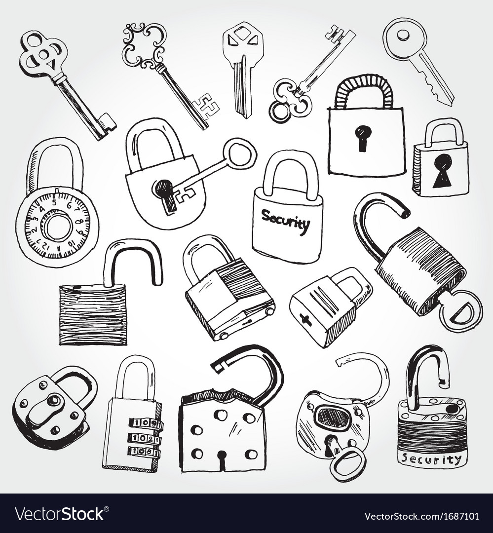 Lock and key vector | Price: 1 Credit (USD $1)