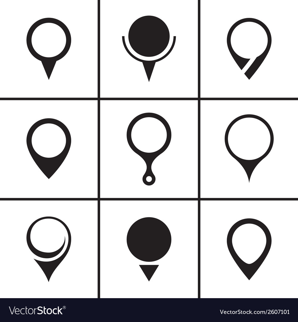 Map pointer set vector | Price: 1 Credit (USD $1)