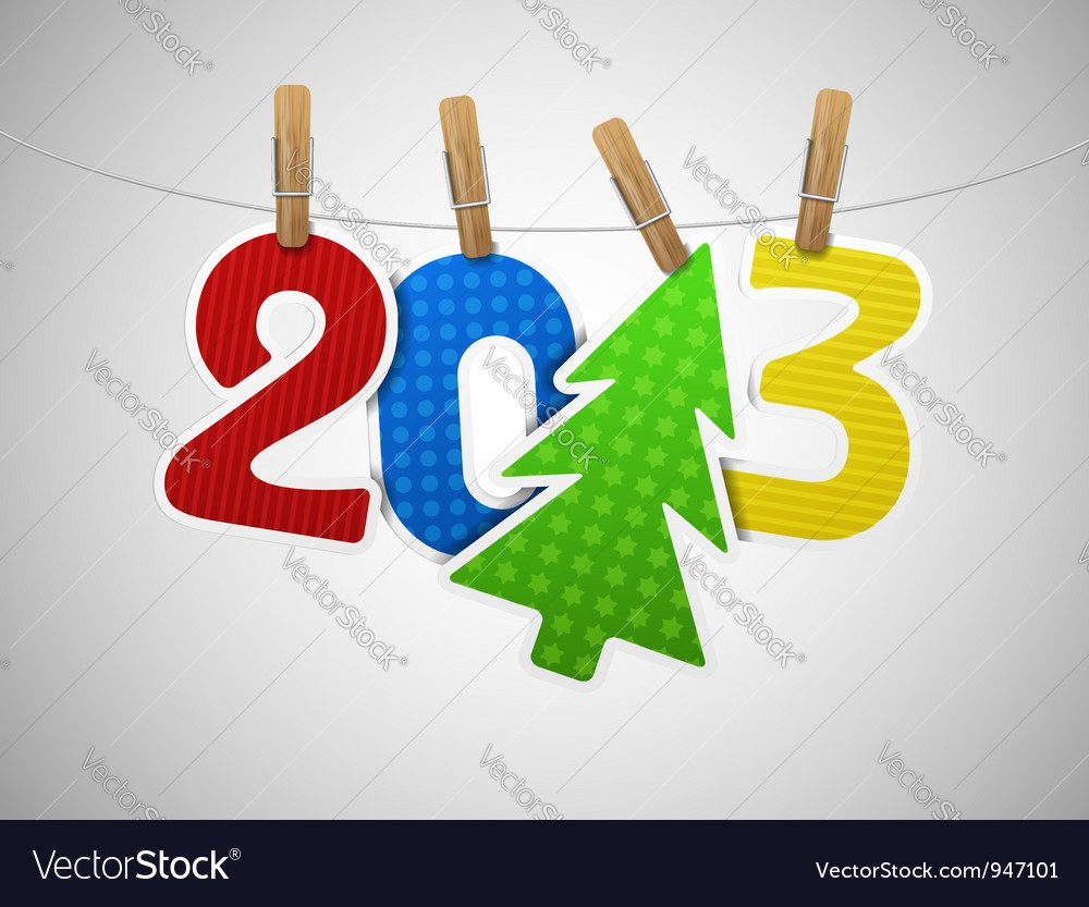 New 2013 year vector | Price: 1 Credit (USD $1)